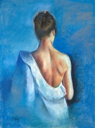 Vestido Blanco by Domingo - Original Drawing, Paper on Board sized 18x24 inches. Available from Whitewall Galleries